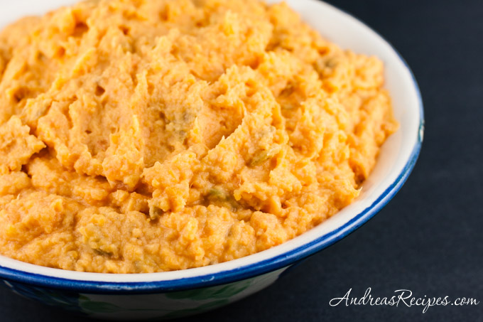 Andrea Meyers - Mashed Sweet Potatoes with Green Chiles