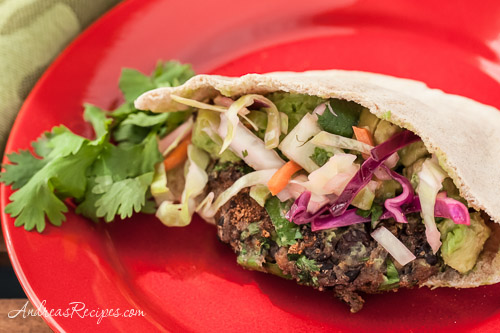 Andrea Meyers - Mexican Falafel Sandwich with Guacamole