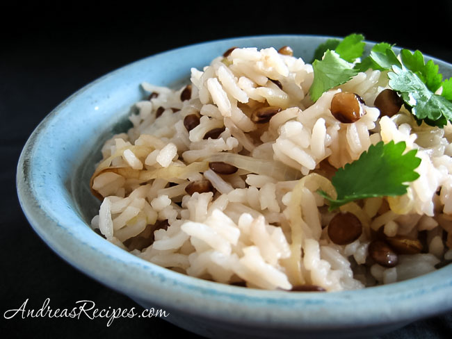 Mujaddarah (Rice with Lentils)