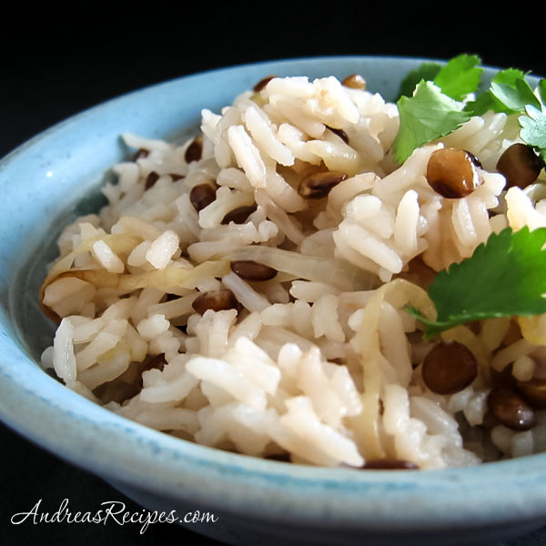 Mujaddarah (Rice with Lentils) - Andrea Meyers