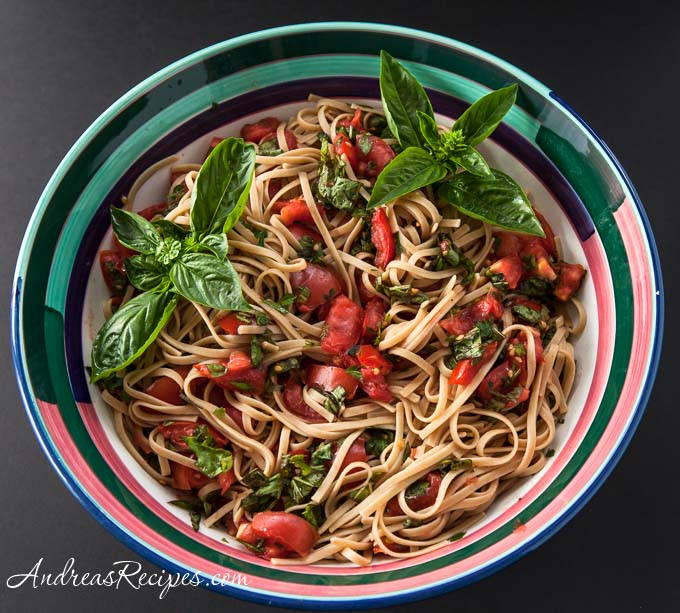 No-Cook Tomato Sauce - Andrea Meyers