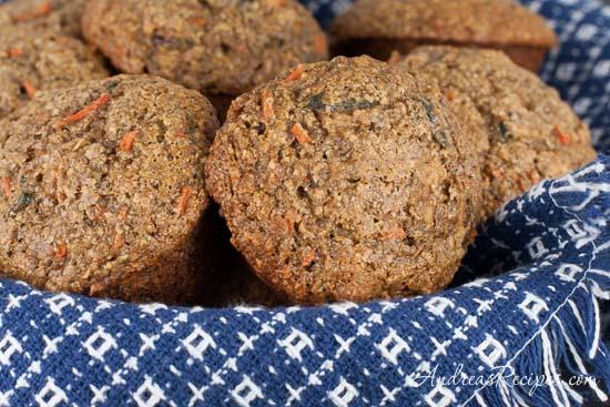 Oat Bran Flax Muffins