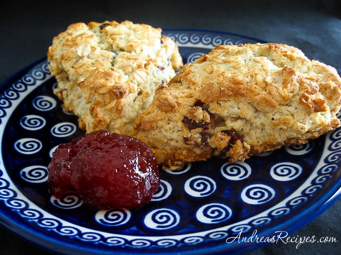 Oatmeal Cream Scones