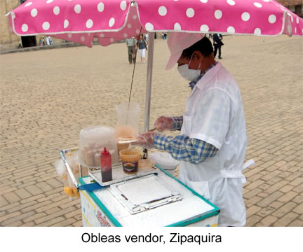 Obleas vendor, Zipaquira