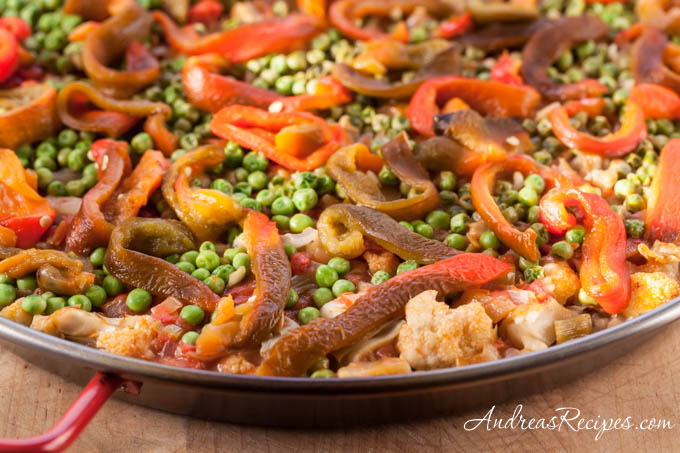 Andrea's Recipes - Vegetable Paella