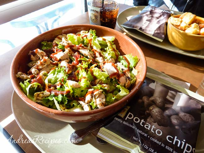 Andrea Meyers - Panera Bread, bbq chicken salad and steak chili