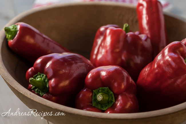 Peppers from our garden - Andrea Meyers