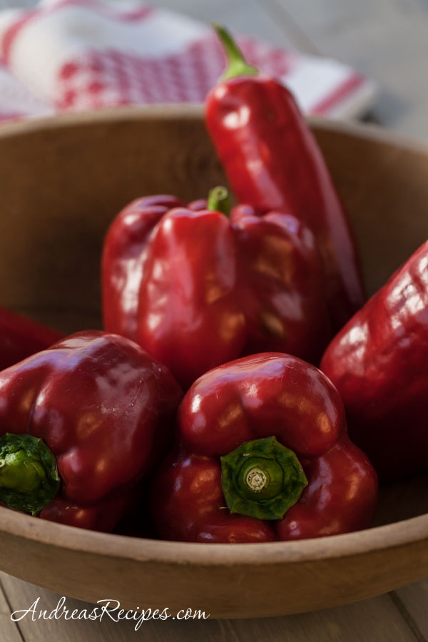 Red Peppers, homegrown - Andrea Meyers