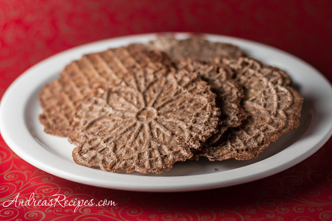 Andrea's Recipes - Chocolate Pizzelles