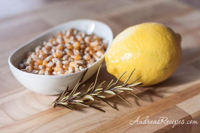 Andrea Meyers - Popcorn with rosemary and lemon