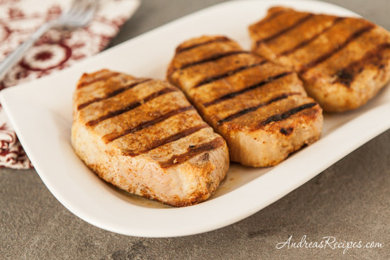 Andrea Meyers - Grilled Pork Chops with Tandoori Spice Rub