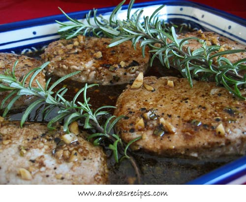 Andrea's Recipes - Pork Loins with Balsamic Honey Glaze