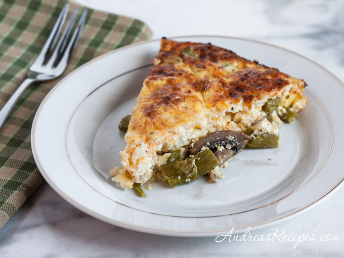 Andrea Meyers - Asparagus Quiche with Mushrooms and Shallots