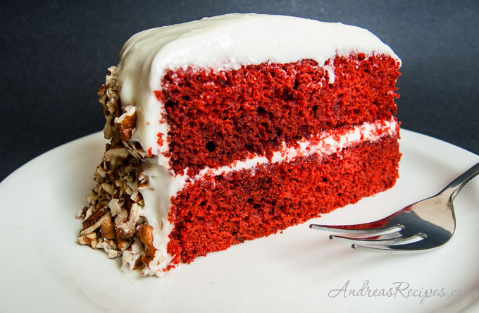 Red Velvet Cake, slice - Andrea Meyers