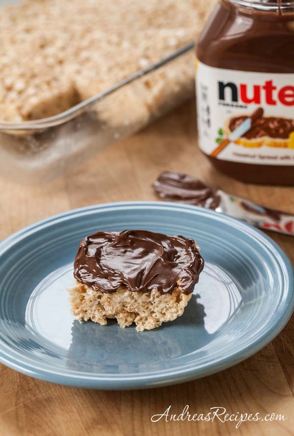 Rice Crispy Treats with Nutella