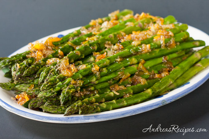 Andrea's Recipes - Roasted Asparagus with Orange Ginger Glaze
