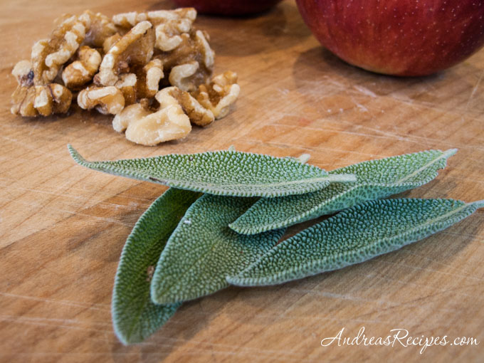 Andrea's Recipes - Sage, walnuts, and apples