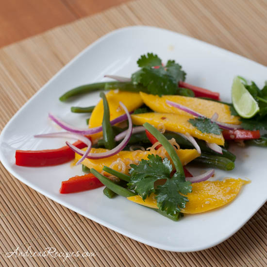 Green Bean and Mango Salad with Thai-Style Vinaigrette - Andrea Meyers