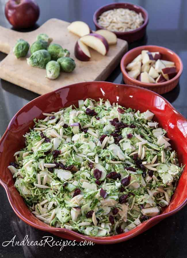 Waldorf Brussels Sprout Salad - Andrea Meyers