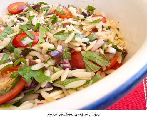 Andrea's Recipes - Mediterranean Orzo Salad