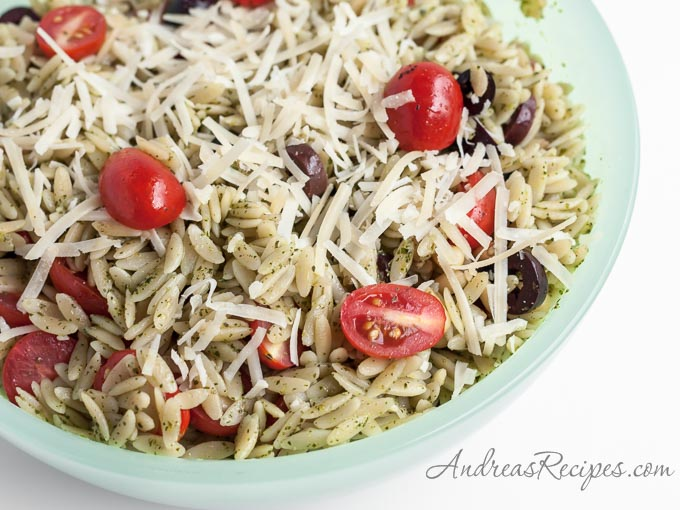 Orzo Salad with Pesto - Andrea Meyers