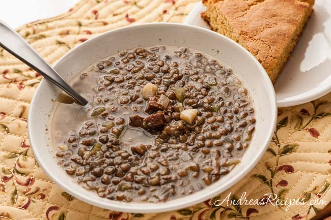 Ham and Lentil Soup - Andrea Meyers