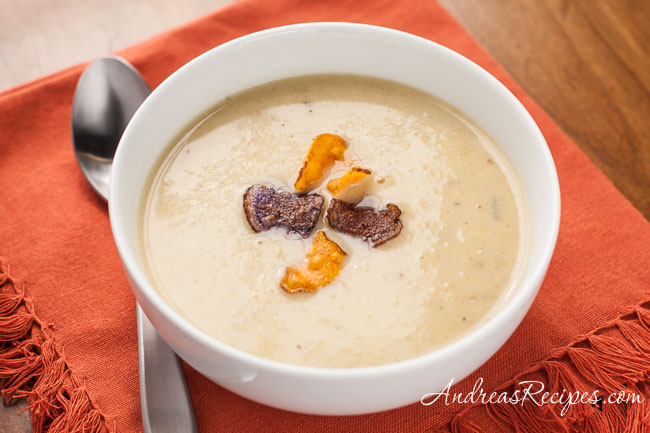 Andrea Meyers - Potato-Leek Soup with White Truffle Honey