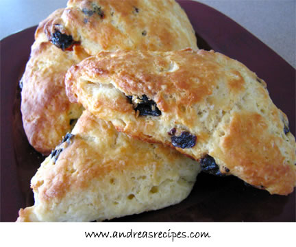 Andrea's Recipes - Cherry and Sour Cream Scones