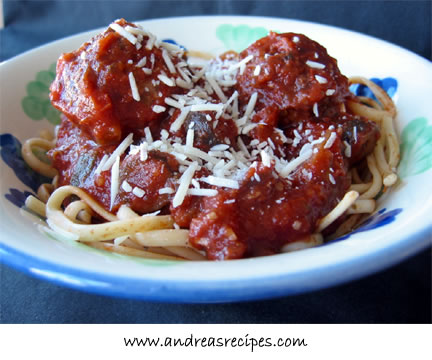 Andrea's Recipes - Spaghetti and Meatballs