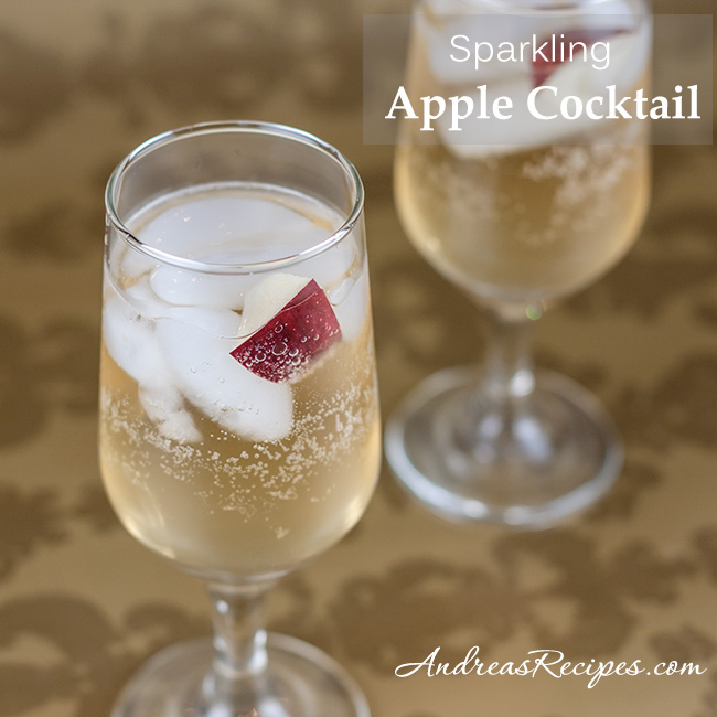 Andrea Meyers - Sparkling Apple Cocktail