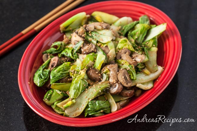 Stir-Fried Baby Bok Choy with Shiitake Mushrooms