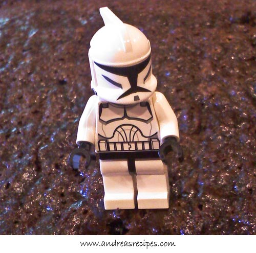 Andrea Meyers - Lego Star Wars stormtrooper, model for birthday cake
