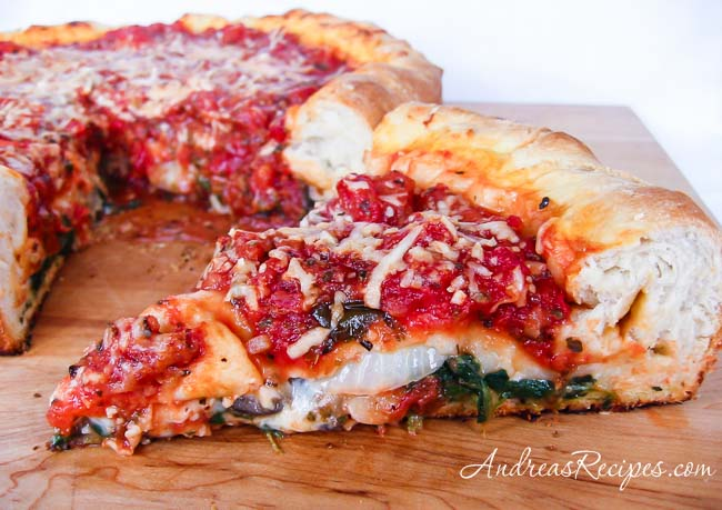 Andrea's Recipes - Chicago Style Stuffed Pizza