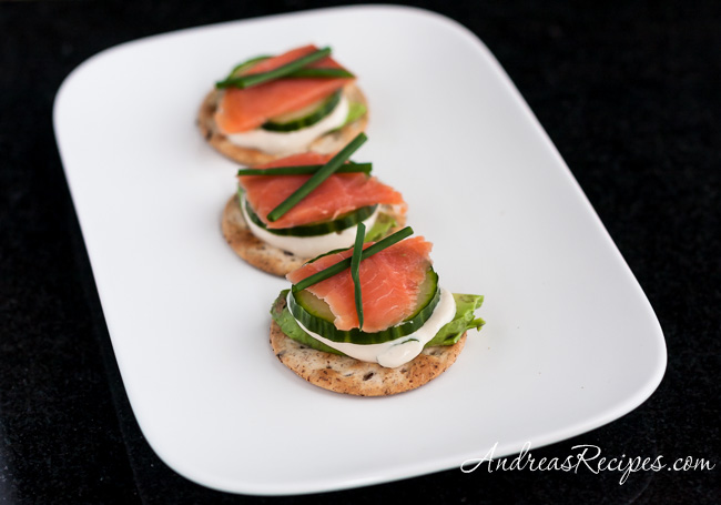 Andrea Meyers - Sushi on a Cracker with Tamari Ginger Dip