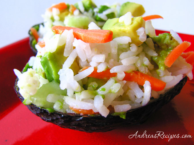 Sushi Stuffed Avocados