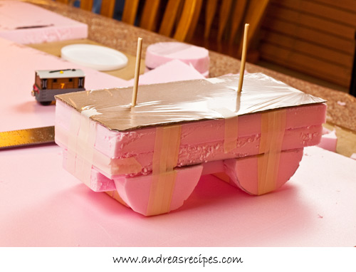 Andrea Meyers - Toby Train Birthday Cake, base