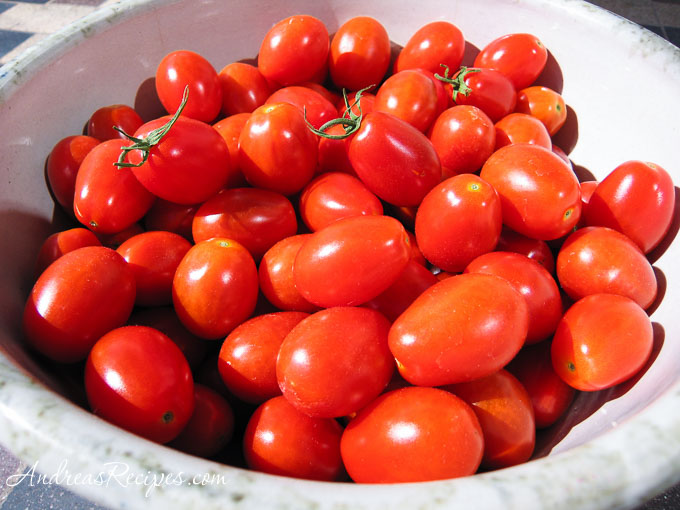 Bowl of grape tomatoes - Andrea Meyers