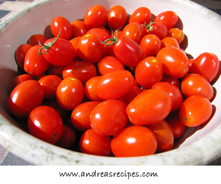 Andrea's Recipes - bowl of grape tomatoes