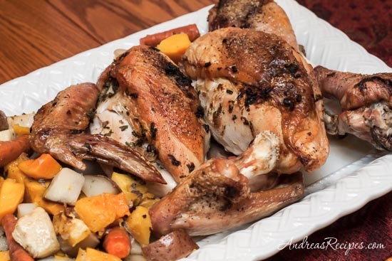 Andrea Meyers - Roasted Turkey with Root Vegetables 