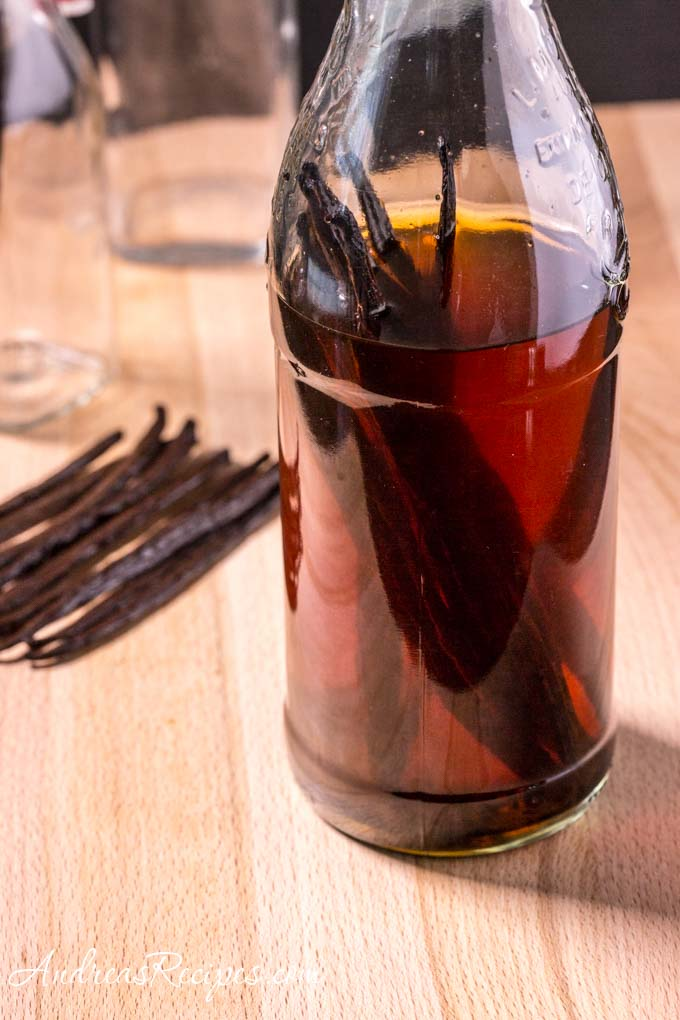 Vanilla Extract (vanilla beans + vodka + time = vanilla extract)