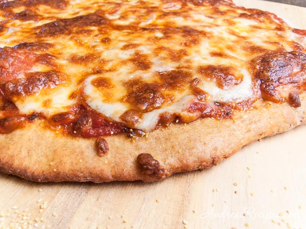 Whole Wheat Pizza with Pepperoni and Mozzarella