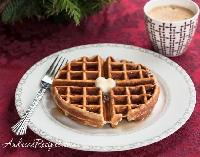 Andrea Meyers - Eggnog Waffles