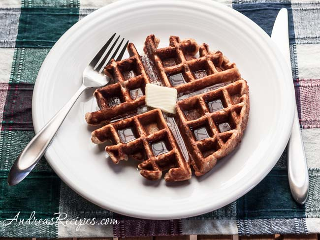 Andrea Meyers - Honey Cinnamon Whole Wheat Waffles
