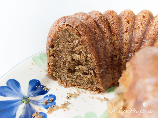 Zucchini-Olive Oil Cake with Lemon Crunch Glaze - Andrea Meyers