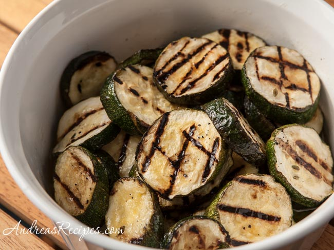 Andrea Meyers - Grilled Zucchini with Herb Marinade