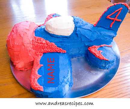 Airplane cake, side
