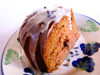 Andrea's Recipes - Applesauce Cake with Citrus Lavender Glaze