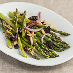 Steamed Asparagus with Red Onion, Almonds, and Raisins - Andrea Meyers