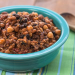 Slow-Cooker Four Bean Baked Beans - Andrea Meyers