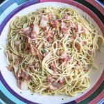 Classic Spaghetti Carbonara - Andrea Meyers